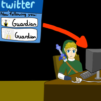 Legend of Zelda: Link and Twitter by NinjaFalcon90