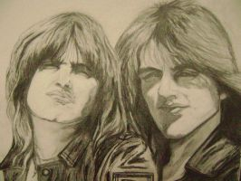 OZZY AND RANDY RHODES by carriefawnsmom
