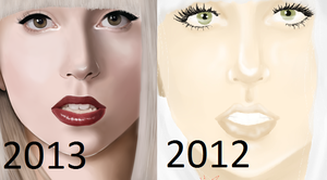 Lady Gaga Now and Then by Jennerdstro
