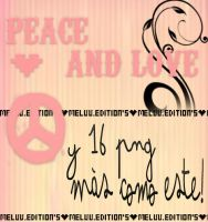 Peace And Love Pngs' by MeluuEditions