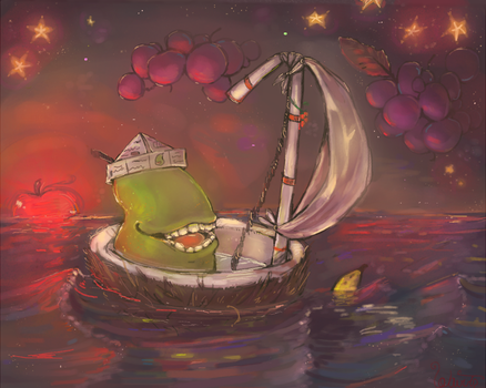 the pear sets sail by rumbletree6