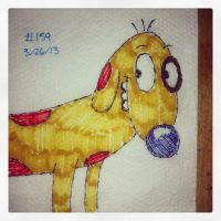 Napkin Art 159 - Dog - CatDog by PeterParkerPA