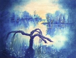 Painting a daydream (Tree landscape) by Stu7art
