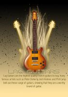 Lag Guitars Advertisment Poser by Icono-Graphic