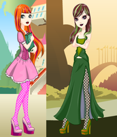 EAH OC Daughters of the Evil Step Sisters by Theshadowman97