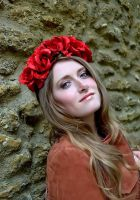 Amor floral flower crown headpiece A/W edit by paradiseshoretwins