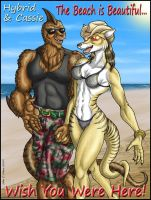 HYBRID AND CASSIE ON VACATION by Eggplantm