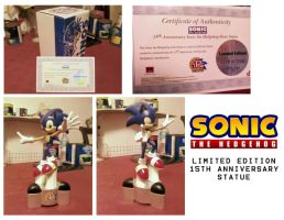 Sonic 15th Anniversary Statue by Fuzon-S