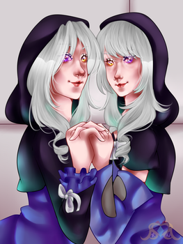 [OC-tober + Speedpaint] Raven And Emerlie by MikomiKisomi