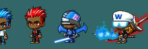 maplestory characters by DavidTH90Animations