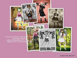 Gothic and Wa Lolitas by ibr-remote