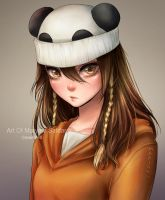 Panda Hat - Paypal Commission by Mari945