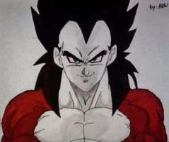 Super Saiyan 4 Vegeta by WatersDBZArt