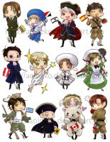 Axis Powers Hetalia: Stickers2 by aoineko