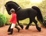 Commission Friesian felt fabric horse by Tawneyhorses