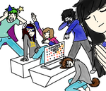 Tick Tack Toe Party by SoulCat2003