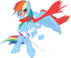 Fighter Rainbow Dash by TiXoLSeyerk