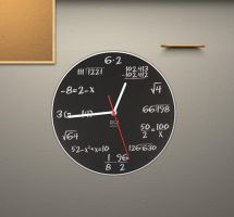 Math Clock for xwidget by jimking