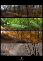 4 seasons in Cerovac by facefromdream