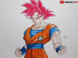 SSJ God Goku (Dragon Ball Z: Battle of Gods) by HideakiArtReal