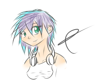 First human coloring on sai by jojafnot