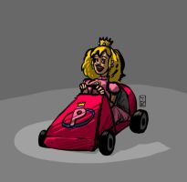 10 27 2012 Daily Draw Quicky Princess Mario Kart by LineDetail