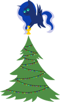 25 Days of Christmas Ponies- Day 20 Luna by V0JELLY