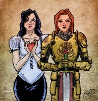 FABLES: Snow White and Rose Red by photon-nmo