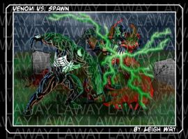 Venom Vs. Spawn_Dream Fight by AngelCrusher