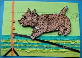 Quilling - Card 23 : Kifer by Eti-chan