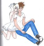 Autumn and Derek's pose by ozozo