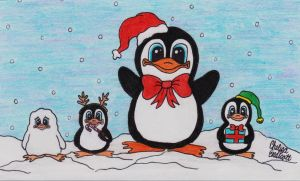 Holiday Penguins by imagineBeyondReality