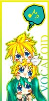 Vocaloid Bookmark by FishHeadThe3rdAndCo