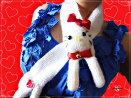 Hello Kitty Scarf by Cateaclysmic