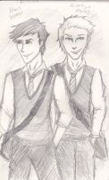 Scorpius Malfoy and Albus Potter by CaptnBucky