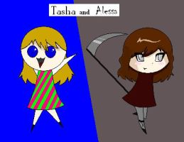 Tasha and Alessa by MythrilComics