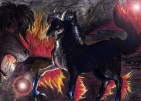 Horses of nightmare by StarlightsMarti