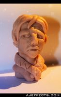 Clay Bust by ajeffects