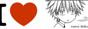 We heart Usui Takumi by Sara-tan
