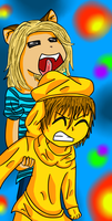 Mikki Licks Stephano by shadow54379