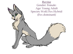 Ravina updated Ref Sheet by DoubleTroubleWolves