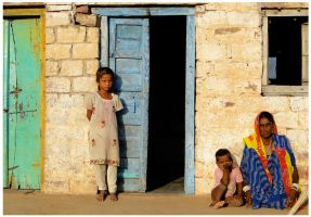 Rajasthani girl at home by Indiangal