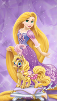 Rapunzel And Blondie by Mileymouse101
