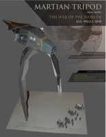 War of the Worlds Tripod Paper Model by RocketmanTan