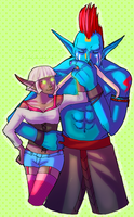The Troll and the Elf by RavenNoodle
