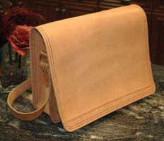 Messenger Bag In the RAW by Blackthornleather