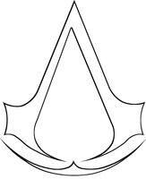 Assassin's Creed - Assassin crest Lineart by Skylight1989