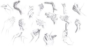 Study of hands by Madda-Sketches