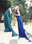 Princess Uranus and Neptune - Ethereal Kiss by LadyOfBarians