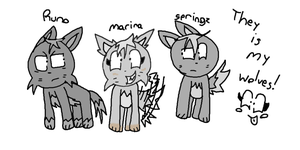 Mah Wolves by 5penguins
